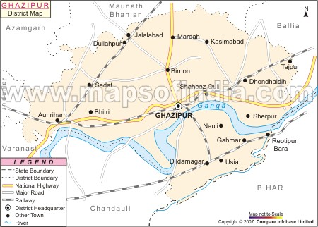 map of dildarnagar